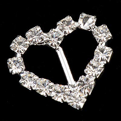 Picture of Diamante Buckle Small Heart Vertical