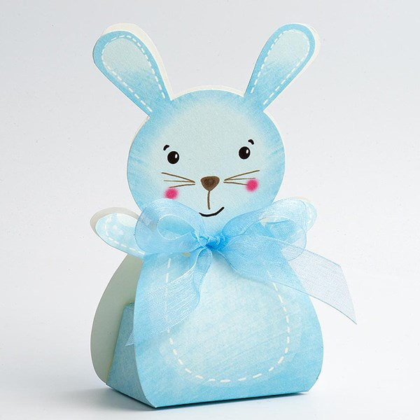 Picture of DIY Blue Friends Rabbit with Ribbon