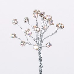 Picture of DIY Diamante Silver Stems with clear Diamantes