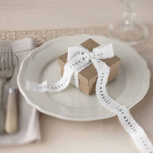 Picture of Frayed Ribbon - Just Married