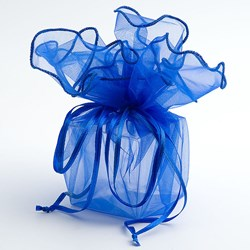 Picture of DIY Organza Drawstring Wrap in Royal Blue