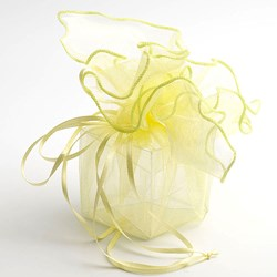 Picture of DIY Organza Drawstring Wrap in Yellow