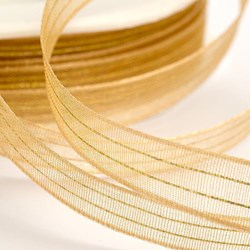 Picture of DIY Organza Lurex Thread Ribbon Gold