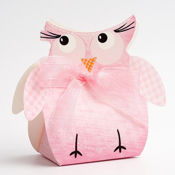 Picture of DIY Pink Friends Owl with Ribbon