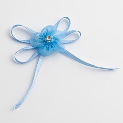Picture of DIY Pre Tied Bows Design 4 in Blue