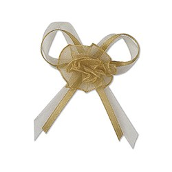 Picture of DIY Pre Tied Bows Design 6 in Gold