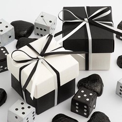 Picture of DIY Two Tone Boxes in Black & White Silk