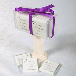 Picture of Exclusive Special Day Chocolates design 2 White Silver