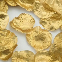 Picture of Fabric Petals in Gold