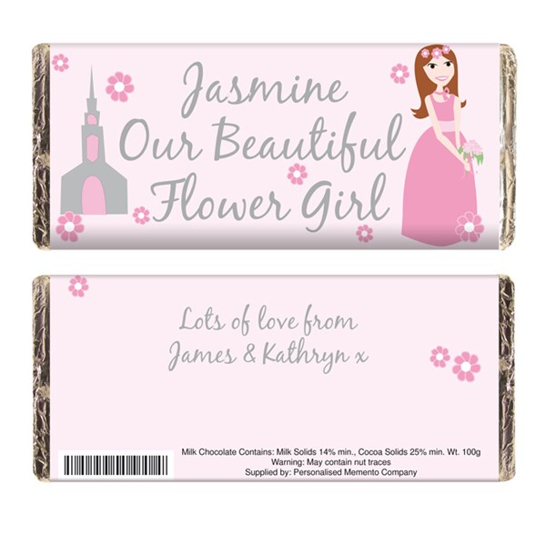 Picture of Fabulous Flower Girl Chocolate Bar