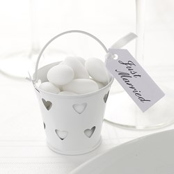 Picture of Favour Pails - Heart Design in White
