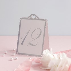 Picture of Heart Table Numbers White & Silver - Love Struck - 1 - 12