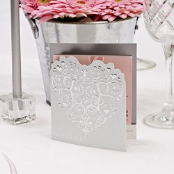 Picture of Vintage Romance Lottery Ticket Holder in White/Silver