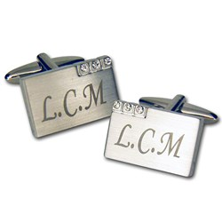 Picture of Personalised Diamante Cufflinks