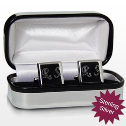 Picture of Personalised Sterling Silver Square Cufflinks