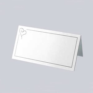 Picture of Place Cards - Contemporary Heart Silver