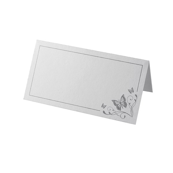 Picture of Place Cards - Elegant Butterfly - White/Silver