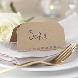 Picture of Place Cards - Plain Kraft - Vintage Affair