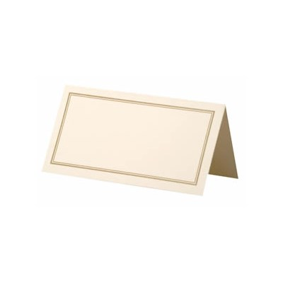 Picture of Place Cards Ivory/Gold Border
