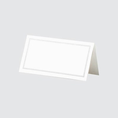 Picture of Place Cards White/Silver Border