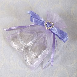 Picture of Ready Made Organza and Diamante Pouch in Lilac