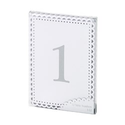Picture of Rectangular Table Numbers 1 - 12