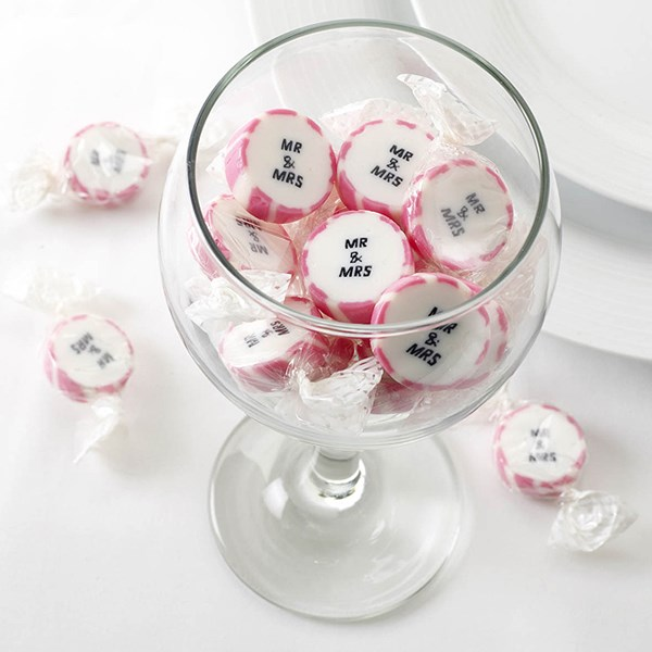 Picture of Rock Sweets - Pink Mr & Mrs