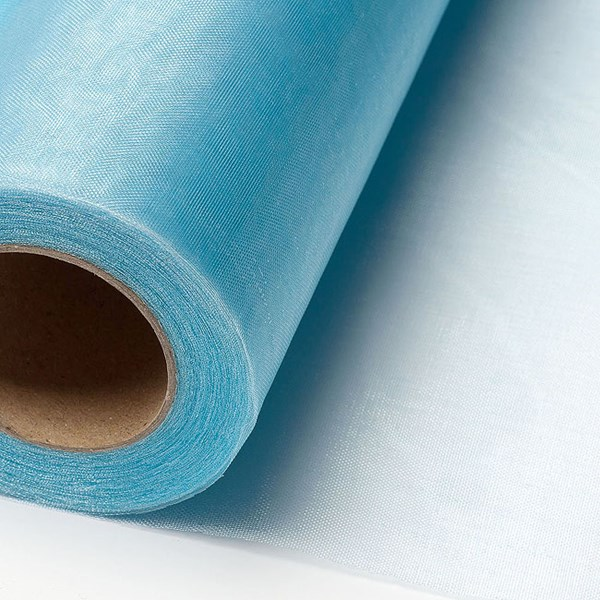 Picture of Sheer Crystal Organza on a roll in Pale Blue