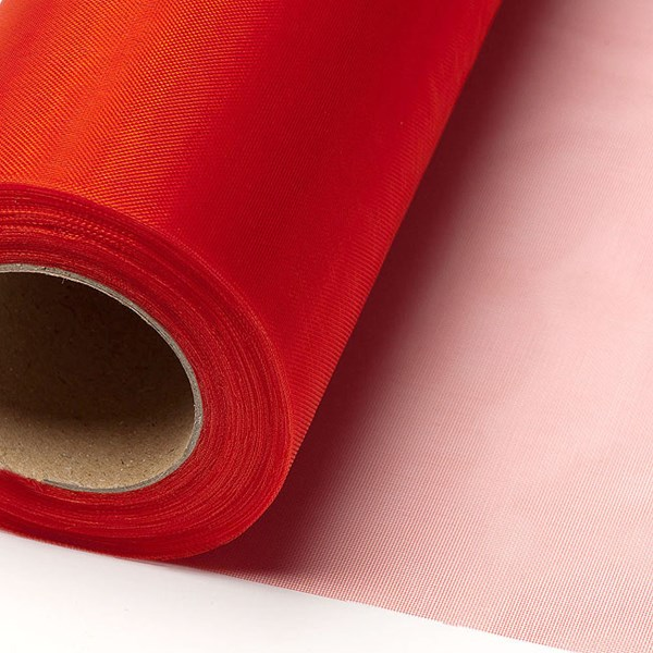 Picture of Sheer Crystal Organza on a roll in Red