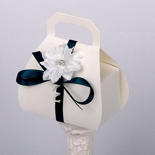 Picture of Silk Bridal White Hand Bag
