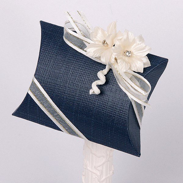 Picture of Silk Navy and Ivory Pillow