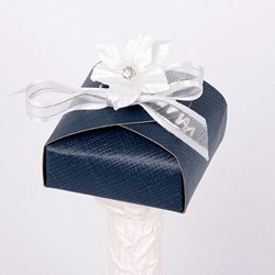 Picture of Silk Navy and White Curved Top Box