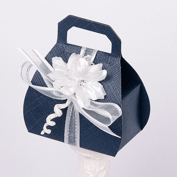 Picture of Silk Navy and White Hand Bag