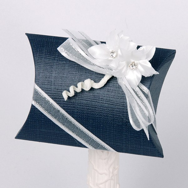 Picture of Silk Navy and White Pillow