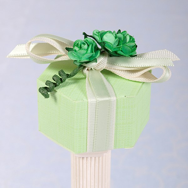 Picture of Silk Pastel Green Hexagon Box