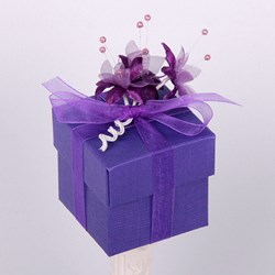Picture of Silk Purple Design 1 Box & Lid