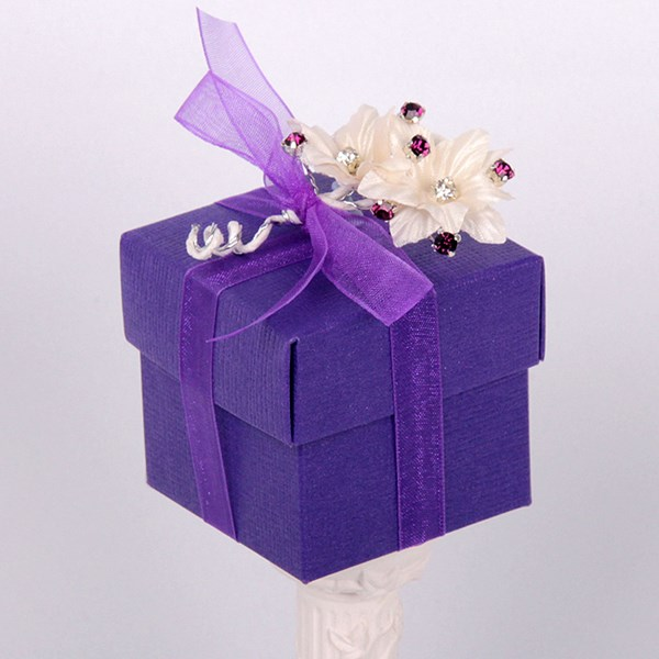 Picture of Silk Purple Design 2 Box & Lid
