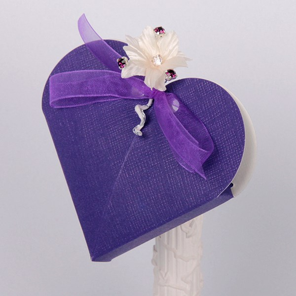 Picture of Silk Purple Design 2 Heart
