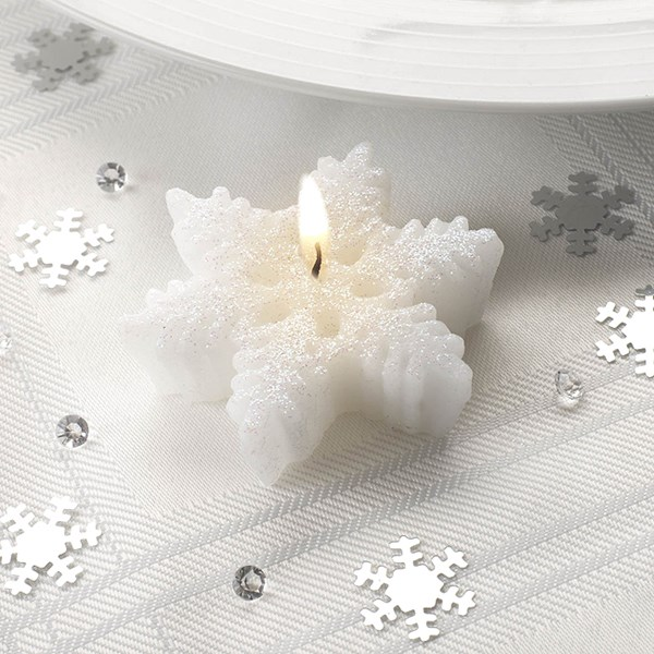Picture of Small Shimmering Snowflake Candles