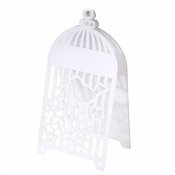 Picture of Something In The Air Birdcage Tentfold Place Card