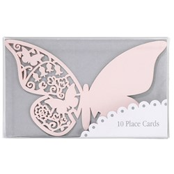 Picture of Something in the Air Butterfly Place Cards for Glass in Pink