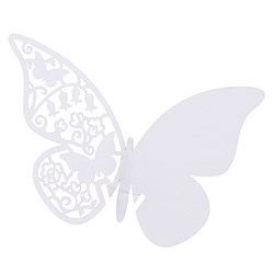 Picture of Something in the Air Butterfly Place Cards for Glass in White