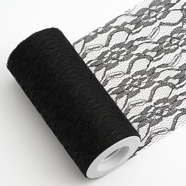 Picture of Vintage Lace on a Roll Black 15cm x 10m