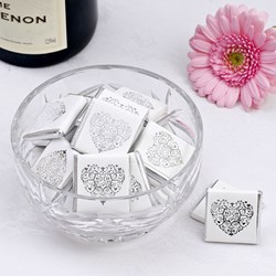 Picture of Vintage Romance Chocolates - White / Silver