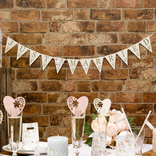 Picture of With Love - Just Married Bunting