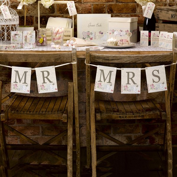 Picture of With Love - Mr & Mrs Chair Bunting
