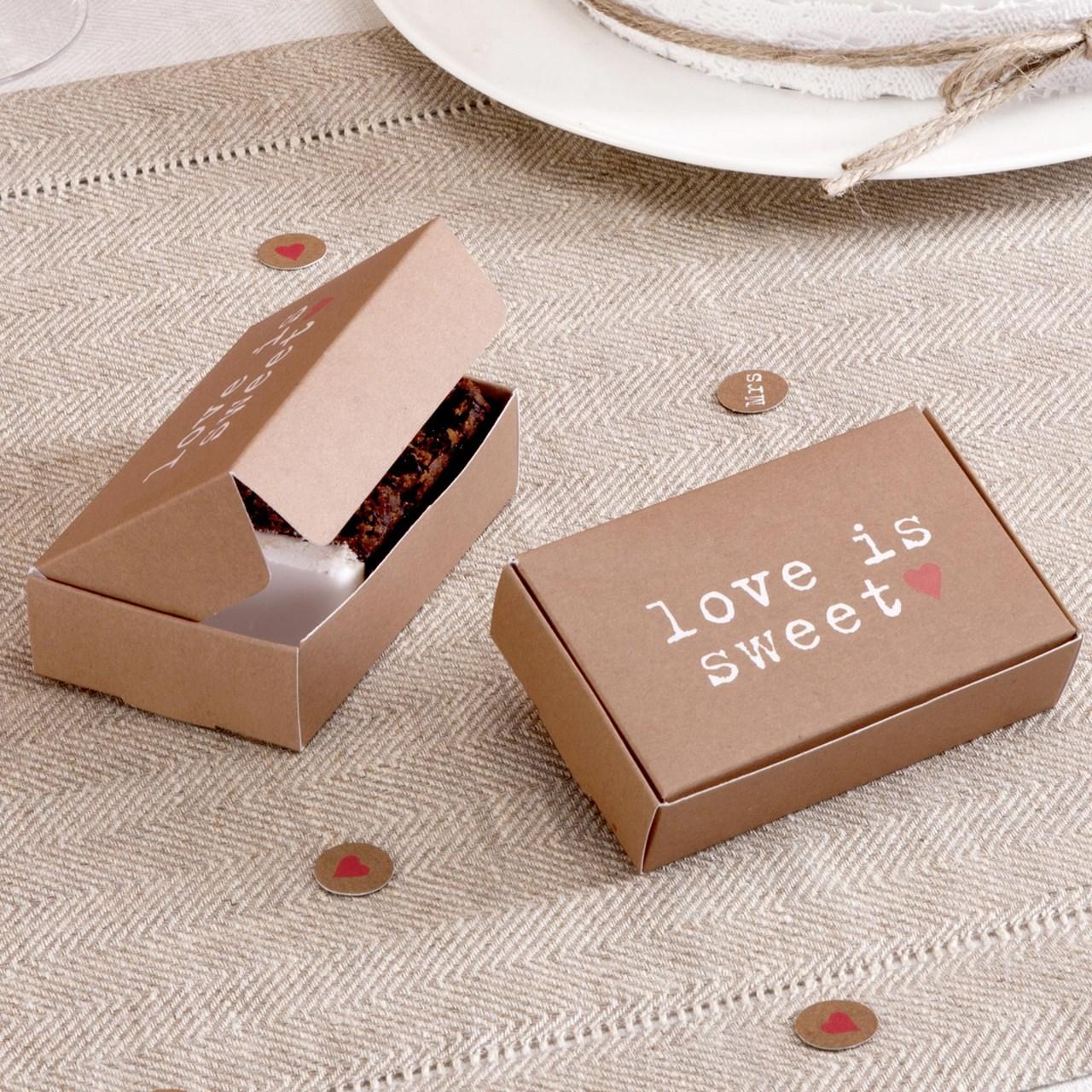Just My Type Cake Box Uk Wedding Favours
