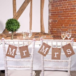 Picture of Just My Type - Mr and Mrs Chair Bunting