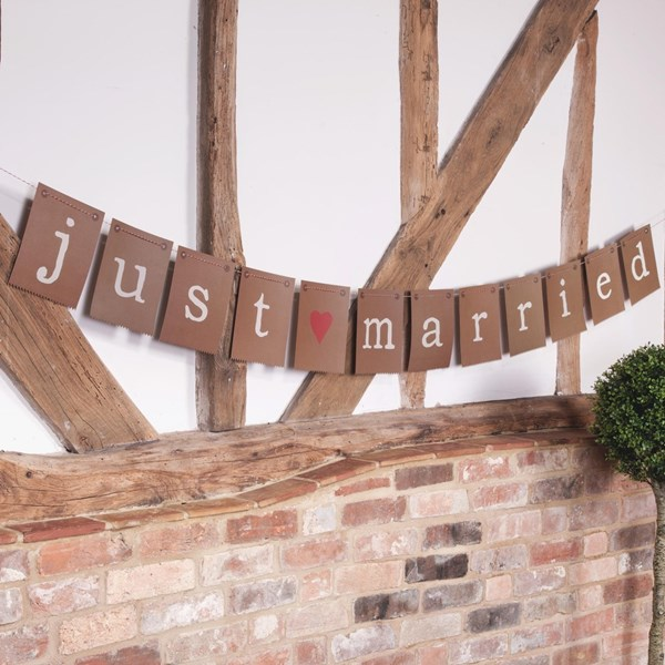 Picture of Just My Type - Just Married Bunting
