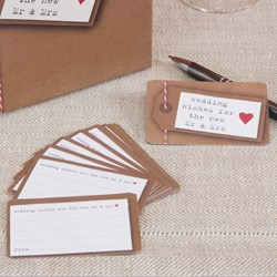 Picture of Just My Type - Wedding Wishes Cards